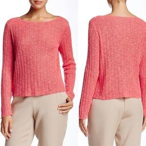 Eileen Fisher Bateau Boxy Linen Blend Crop Sweater